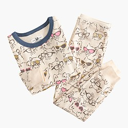 Girls' pajama set in cool cats