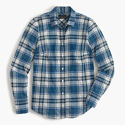 Lightweight perfect shirt in seaport plaid