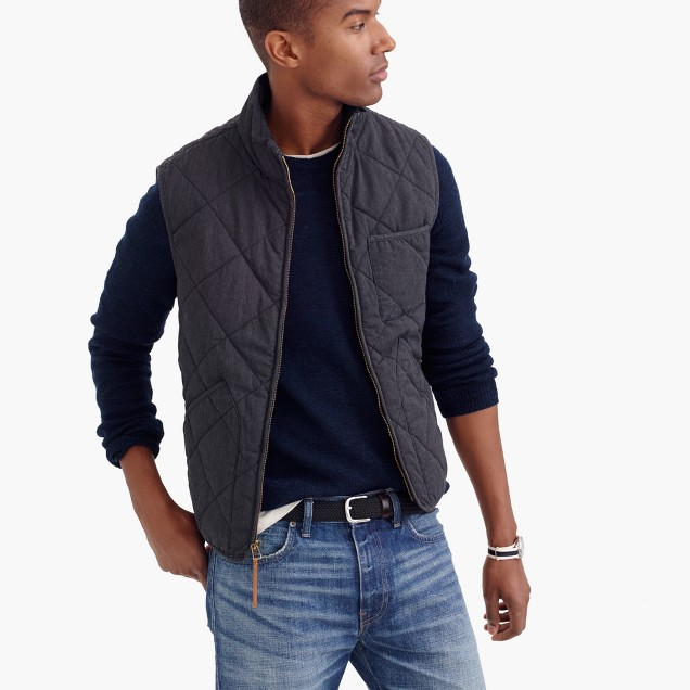 sussex quilted vest j crew. Black Bedroom Furniture Sets. Home Design Ideas