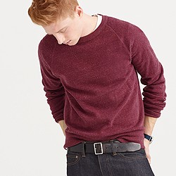 Slim brushed fleece sweatshirt