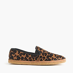 Calf hair crepe loafers