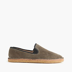 Suede crepe loafers