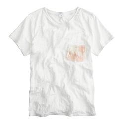 Ryan Roche™ for J.Crew fringe pocket T-shirt