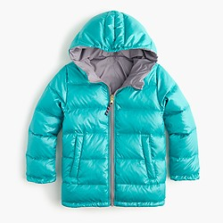 Girls' reversible puffer jacket