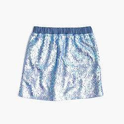 Girls' pull-on sequin skirt
