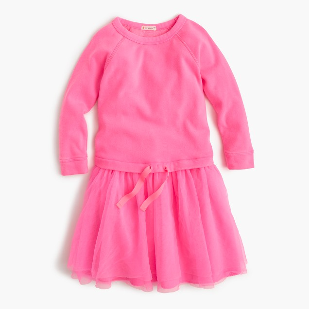 Girls' sweatshirt tulle dress