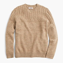 Wallace & Barnes wool-linen guernsey sweater