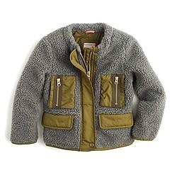Girls' sherpa jacket