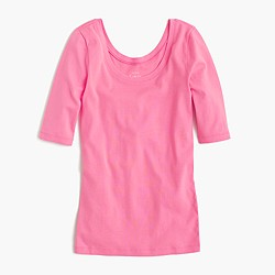 Perfect-fit scoopneck T-shirt