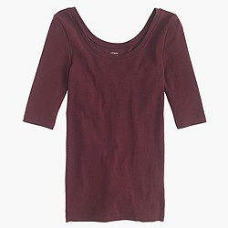 Perfect-fit scoopneck T-shirt