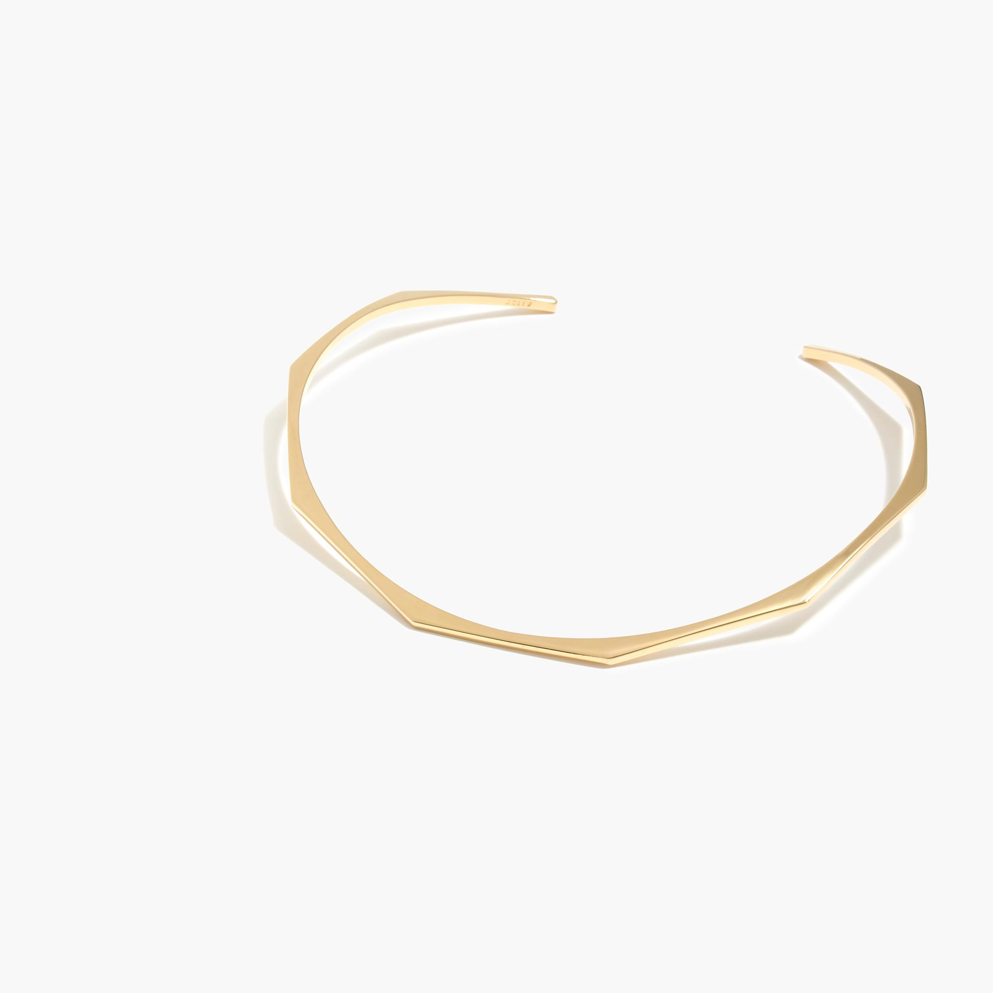 thin geometric choker necklace j crew