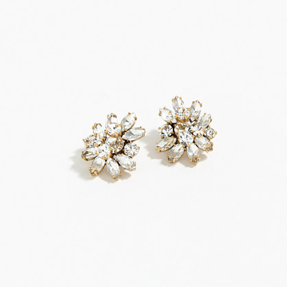 Crystal burst earrings