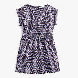 Girls' drapey dress in star print