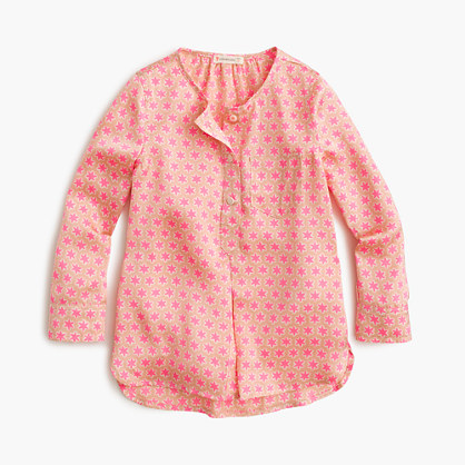Girls' drapey star tunic