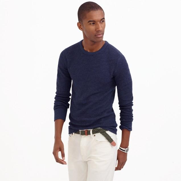 Slim long sleeve thermal t shirt j crew for Thermal t shirt long sleeve
