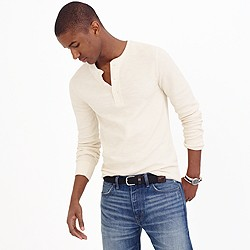 Slim thermal henley