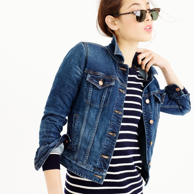 Stretch denim jacket in Sharon wash : Women denim | J.Crew