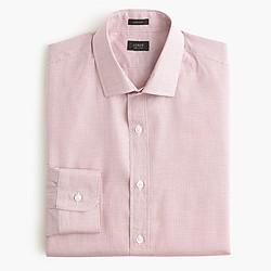 Tall Ludlow shirt in classic burgundy microgrid
