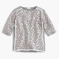 Girls' sparkle leopard top