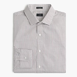 Ludlow shirt in dark acorn windowpane