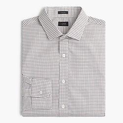 Tall Ludlow shirt in dark acorn windowpane