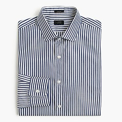 Ludlow shirt in midnight sea stripe