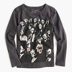 Girls' long-sleeve Olive at the movies T-shirt