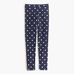 Girls' everyday leggings in glitter split dot