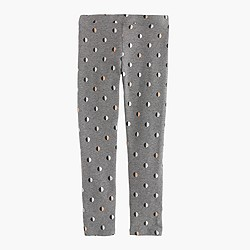 Girls' everyday leggings in glitter split dot