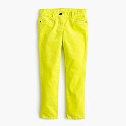Girls' garment-dyed Riley cord