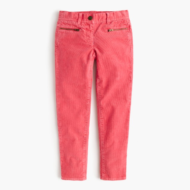 Girls' garment-dyed toothpick cord
