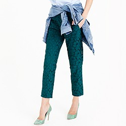 Petite pull-on pant in floral lace