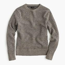 Lambswool jacquard sweater