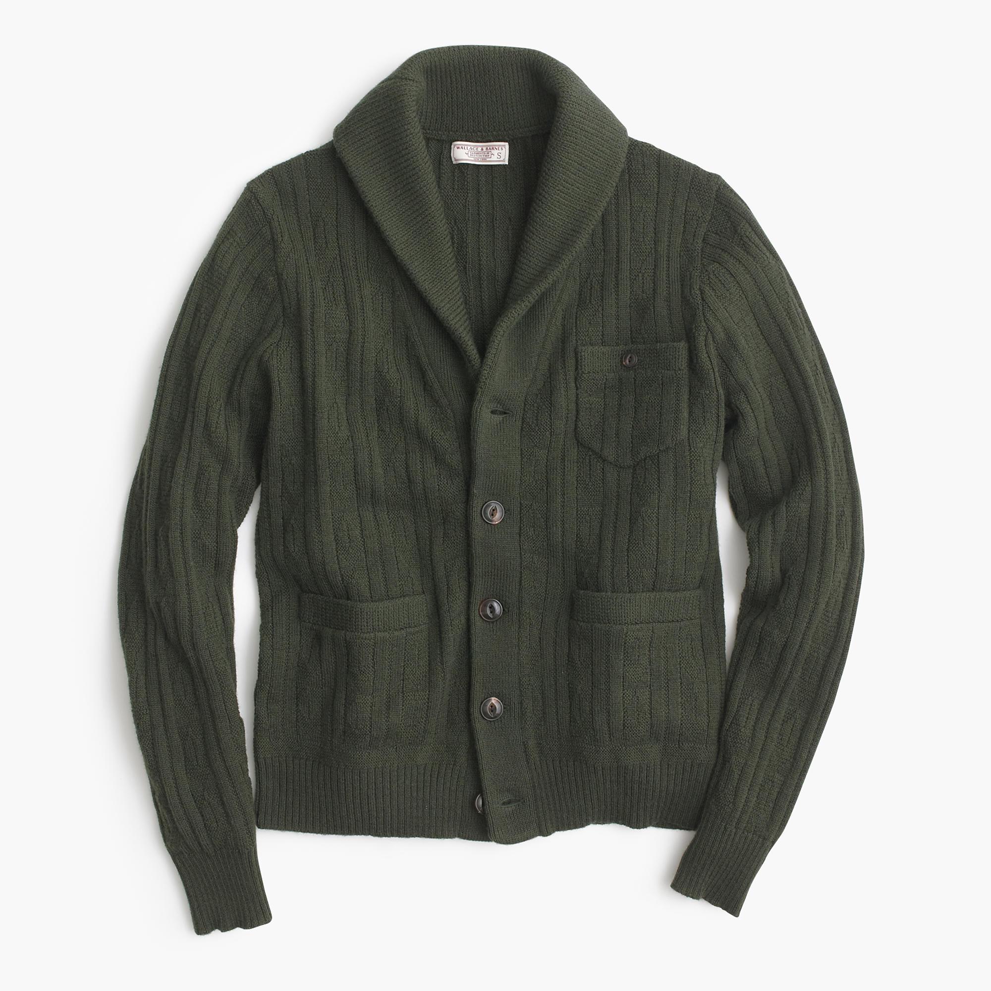 Wallace & Barnes Wool Shawl Cardigan Sweater :