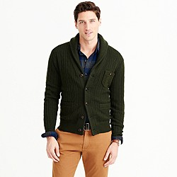 Wallace & Barnes wool shawl cardigan sweater