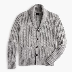 Wallace & Barnes wool cable cardigan