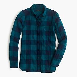 Petite shrunken boy shirt in buffalo check