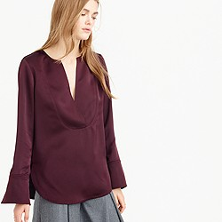 Collection satin tunic top