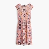 Chiffon dress in marble print