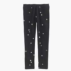 Girls' everyday leggings in foil star