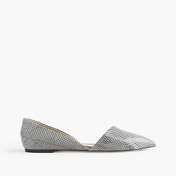 Collection Sloan snakeskin d'Orsay flats