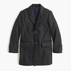 Kids' wool melton topcoat