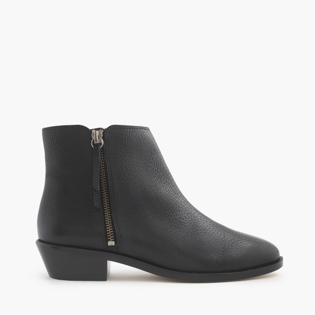 Frankie tumbled leather ankle boots