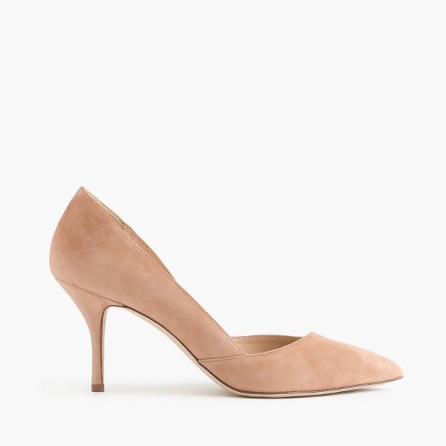 Colette suede d'Orsay pumps