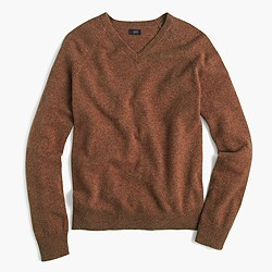 Slim lambswool V-neck sweater