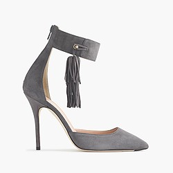 Roxie ankle-cuff tassel pumps