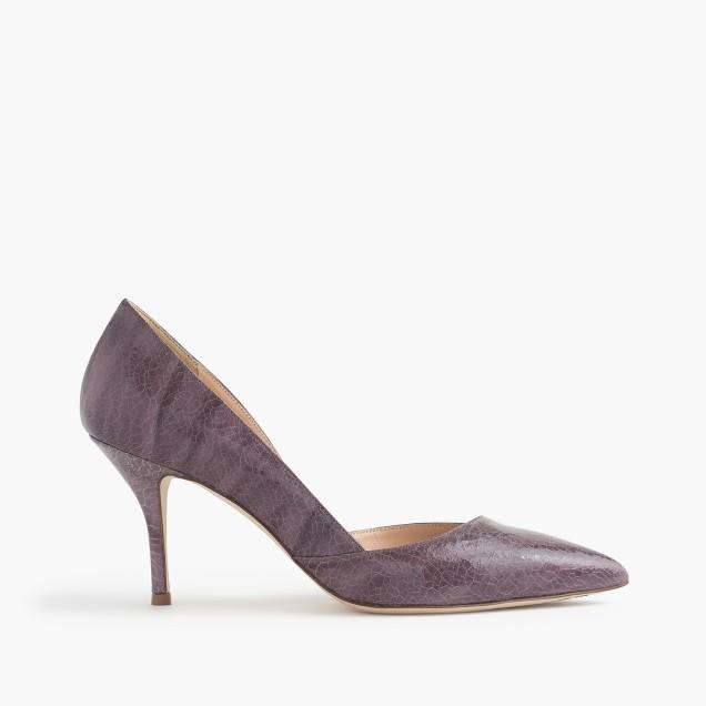 Colette crackled leather d'Orsay pumps