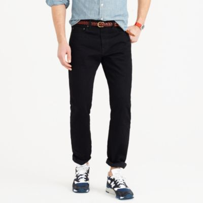 J.Crew 1040 Slim-Straight Mens Jeans in Black Resin