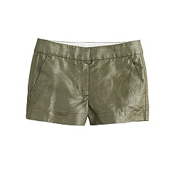 Girls' Frankie short in foil cotton-linen