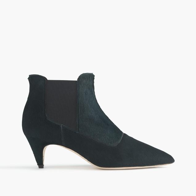 Collection calf hair kitten-heel Chelsea boots